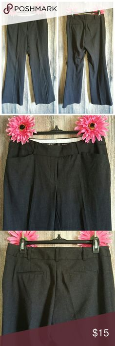 Charcoal black 6p career  dress plants slacks euc Euc 15.5 w x 28 inseam inches london fit George Pants Trousers