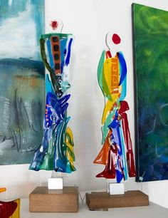 Fused glass - tall women
