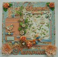 ELITE4U Donna Premade 12x12 Layout Page Album Prima Graphic 45 Secret Garden | Prima Graphic 45 Secret Garden