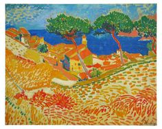 Fauvism is colorful style of painting developed by Henri Matisse and Andre Derain who used vibrant colors, simplified drawing and expressive brushwork. Andre Derain, Henri Matisse, Matisse Art, Raoul Dufy, Fauvism Art, Amedeo Modigliani, Georges Braque, Post Impressionism, Paul Cezanne