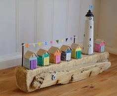 Driftwood 'Carnival Day' Handmade In by HSDesignsCornwall on Etsy