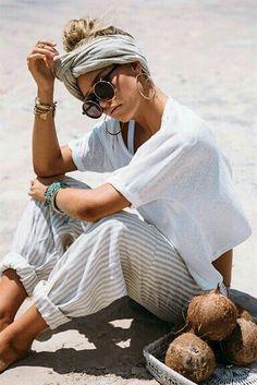 Top Knots & Coconuts. #beachlife, #bythesea @prettysocialgal.