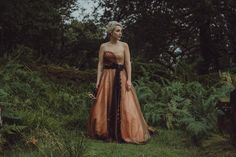 An Alternative Autumn Shades Gown for an Intimate Outdoor Scottish Wedding Planned in Just 5 Weeks