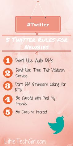 5 Twitter Rules for Newbies