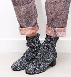 An entry from How To Make Modern Dance Knit Shoes, Sock Shoes, Shoe Boots, Moda Fashion, Grey Fashion, Stylish Outfits, Fashion Outfits, Fashion Details, Fashion Design