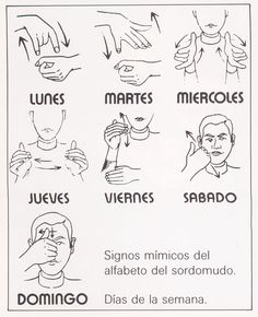 me encanta la idea de hacer los mímicos, mientras cantamos: Dias de la semana en LSE...Days of the week in Spanish Sign Language