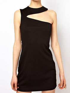 Bodycorn Mini Dress With Shoulder Cut Out Tailoring Training, New Years Dress, Tank Dress, Cute Dresses, What To Wear, Strapless Dress, Party Dress, Fashion Dresses, Clothes For Women