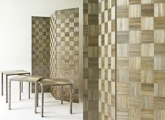 Lison de Caunes - Checkerboard pattern screen and tables