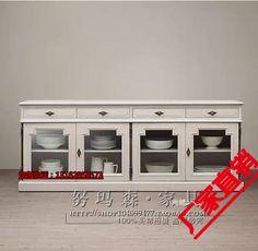 Четыре из массива дерева столовая стороне шкафа американская еда стороне шкафа, чтобы сделать старый антикварная дубовая мебель, изготовленный под заказ из массива дерева обеденный стороне шкафа - Taobao