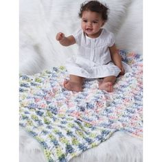 "Baby Blanket - free pattern for your little one! - CROCHET - meas. 34"" square"