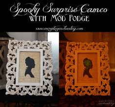 Surprise Spooky Cameo with Mod Podge | Learn how to make a spooky cameo with a glow-in-the-dark surprise using Mod Podge from www.everydayenchanting.com