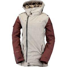 Cappel Heartbreak Insulated Womens Snowboard Jacket - British Khaki Chambray
