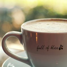 A cup full of coffee is a cup full of bliss. #Coffee