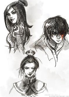ATLA - June, Zuko, and Azula