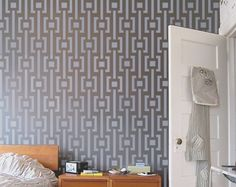Wall STENCIL - Modern Pattern - Reusable MOD Stencil for walls - Easy DIY Home Decor