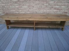 """60"""" wooden bench amish style 11.5""""seat/entryway/hallway/tv stand/coffee table/bench"""