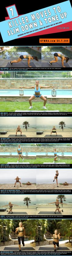 Leg #workout that can be done anywhere, any time. Slim down & tone up with this fun, effective #fitness routine. #exercise #health #weightloss #legs