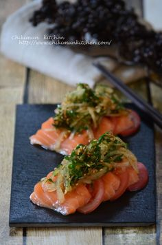 Fish Recipes, Seafood Recipes, Asian Recipes, Cooking Recipes, Ethnic Recipes, Japanese Food Dishes, Japanese Side Dish, Western Food, Food Presentation