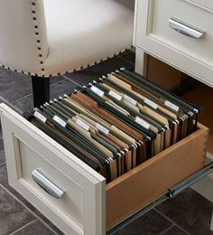 Kraftmaid Built-In Desk File Drawer at lowes and home depot