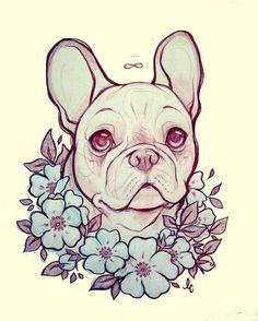 bulldog frances*-* lindsay campbell art <3