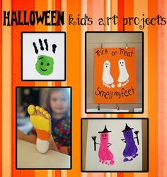 Pinkie for Pink: Halloween Kid's Art Projects - so creatively spooktacular! #Halloween #HalloweenProject