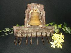 $4.96 or best offer Tie Rack Vintage Belt Holder Wall Hanging Liberty Bell  #Unbranded