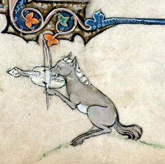 Horse and goat musicians. Chagall versus  Book of hours, ca. 1300 Cambridge, Trinity College B.11.22, fol. 185v.