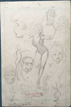 John Buscema Pencil Studies 1970's Comic Art
