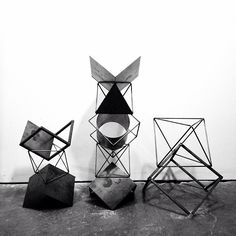.@Eric Trine | Working on some stacking geometric totem thingies for a window installation a...