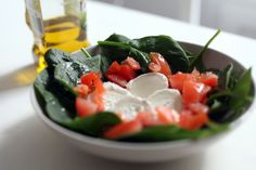 How checosa cooks: Spinach salad! | Checosa en stylelovely.com