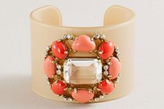 Make A Statement: 9 Killer Baubles To Covet Now #refinery29  http://www.refinery29.com/statement-jewelry-guide#slide-2  J.Crew Multistone Cuff, $50, available at J.Crew....