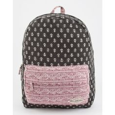 Billabong Hand Over Love Backpack ($45) ❤ liked on Polyvore featuring bags, backpacks, canvas daypack, print backpacks, canvas bag, canvas backpack and canvas knapsack