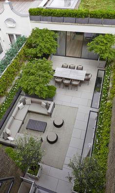 Moderne tuin …