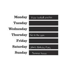 Ferm Living Wandsticker Woche