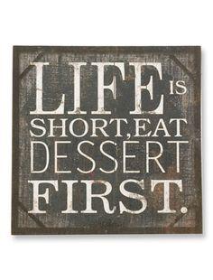 Life Is Short Wooden Print, Life Is Short Burlap Print   Balsam Hill