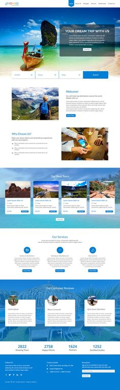 Free website template for Voyage Tours and Travel - Geekboots Web Design, Modern Design, Design Ideas, Travel Website Templates, Website Themes, Website Ideas, University Website, University Of Southern California, Best Wordpress Themes