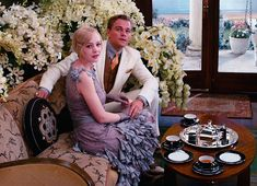 The Great Gatsby: The Wardrobe The Great Gatsby Movie, Great Gatsby Party, Great Movies, 1920s Party, Leonardo Dicaprio, Photography Poses, Wedding Photography, 1920s Wedding, Party Wedding