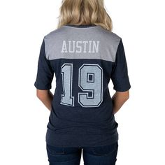5a0fd6096e5e1d Dallas Cowboys Nike Women s Austin  19 My Player Top Texas Pride