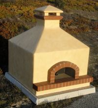 "Toscana80H Assembled 32"" Hipped Pizza Oven"