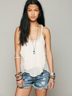 Free People Sound of The Sea Tank at Free People Clothing Boutique
