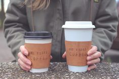 DIY Leather Sleeve For Coffee-To-Go Mug // Ledermanschette für Coffee-to-go Becher   nähmarie
