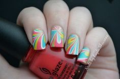 Nails by Kayla Shevonne: 31 Day Challenge - Day 20: Water Marble  really love the colors in this