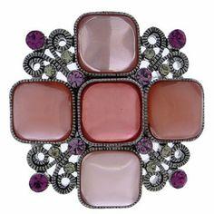 #99542 Jewel Floral Brooch Pin-Pink