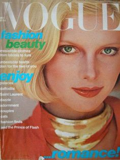 1980s Vogue cover blonde model hair makeup 80s style