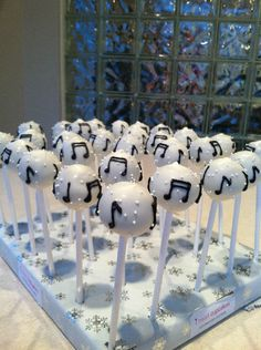 Music Note Cake Pops-one for St.Pats worship group:)