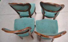 Sedie velluto ~ Tre sedie in noce velluto luigi filippo schienale scolpito