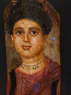 Mummy Portrait of a Woman (Romano-Egyptian, Hawara, AD Portrait Art, Portraits, Art Database, Ancient Egypt, Art Forms, Egyptian, Mona Lisa, Female, Artwork