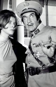 "1966 Vintage Photo Barbara Bain and Martin Landau ""Mission: Impossible"" TV show"