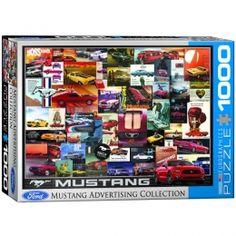 Mustang Advertising Collection Jigsaw Puzzle - PZ-002P- Classic Car, Classic Car Memorabilia, Classic Cars, Mustang Memorabilia.