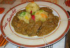 Tejszínes sült csirkemájas zúza, zöldséges bulgurral - Szép ízek-Szepi Ági asztalánál